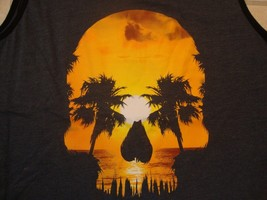 George apparel skull head sunset sleeveless t shirt Size L  - $17.81