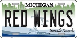 """NHL Detroit Red Wings License Plate State Background Metal Tag  U.S.A."""" - $9.85"""