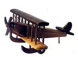 Hornet Park Wooden Vintage Style Airplane Model Biplane Kids Toy Home Bar Office - $31.12