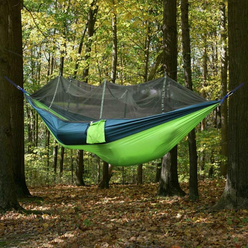 Ufanore Camping Hammock With Mosquito Net, Lightweight Nylon Portable Hammock Wi