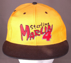 Sterling Marlin 4 Hat-Racing-Snap Back-Yellow-Baseball Cap-Embroidered-N... - $18.68