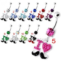 I love mustache Navel Belly Bar - $12.34