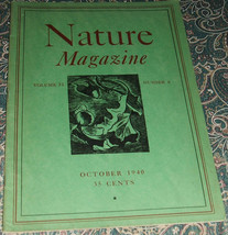 An Original Vintage issue of Nature Magazine fo... - $14.84