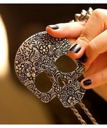 Vintage Style Skull Pendant Long Necklace(Vintage Silver) - $6.99