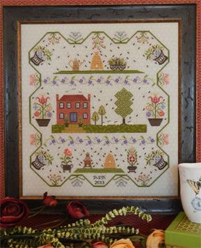 Berkshire Hive neutral 28ct evenweave honeycomb 17x19 cross stitch Fabric Flair