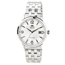 Orient ER2700CW Men's Symphony Stainless Steel Textured White Dial Mechanical... - $144.53