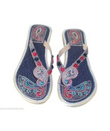 Women Slippers Indian Handmade Traditional Leather Flip-Flops US 5 - $24.99