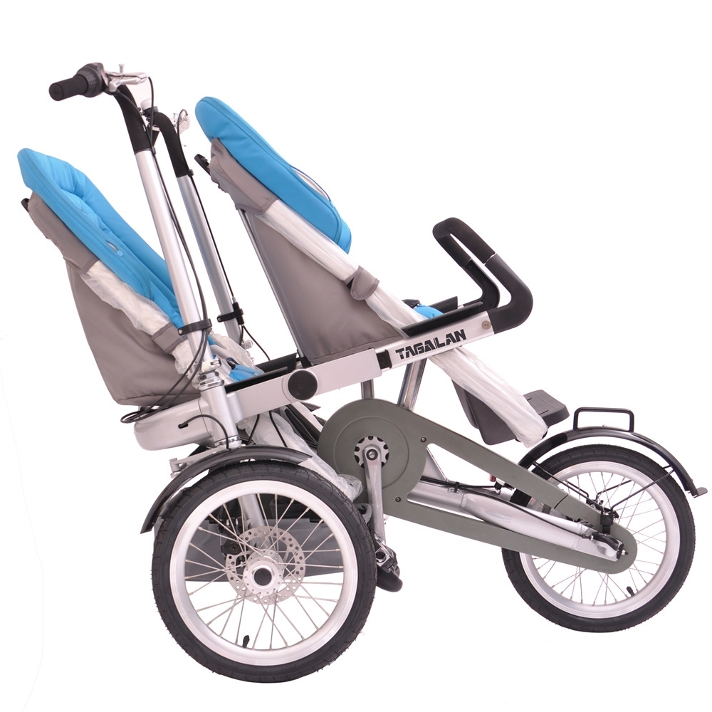 Tagalan 3 Wheels Mother Baby Bike Stroller 2 Seats Carrier With Shimano 3 Gears for sale  USA