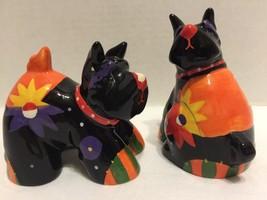 Doggie Salt And Pepper Shakers Black Terrier? - $11.29