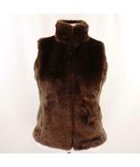 Diane Von Furstenberg Silk Assets Faux Fur Vest Womens Sz S New - $38.69