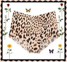 M  Brown Tan Leopard NO SHOW Edge Victorias Secret High Waist Midi Brief... - $10.99