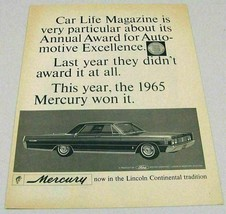 1965 Print Ad Mercury 4-Door Car Life Magazine Award Winner - $13.96