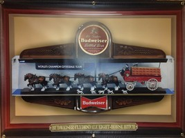 Budweiser Beer Clydesdale Replica Printed Banner Sign Large Garage Art 4' X 3' - $52.16