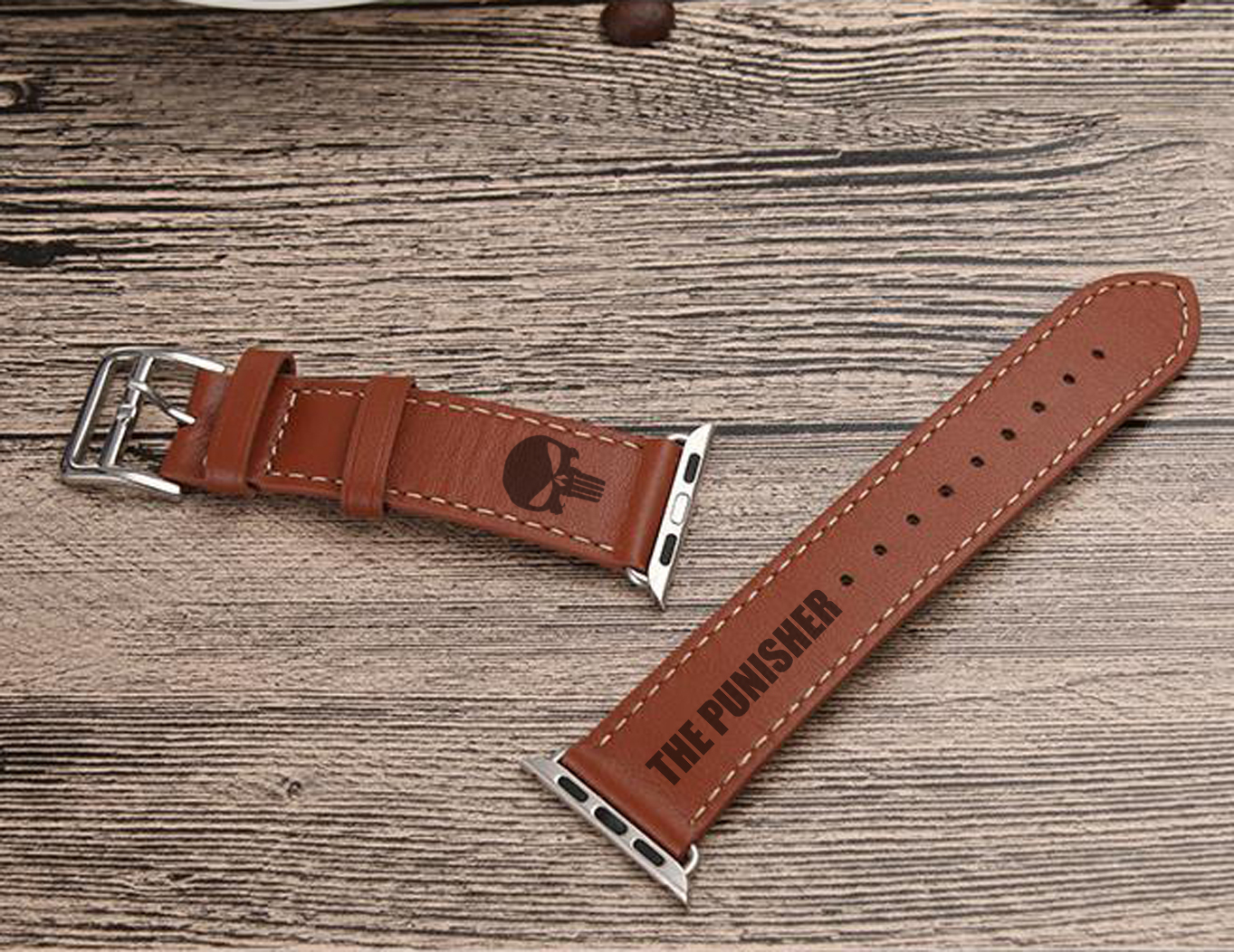 The Punisher Apple Watch Leather Watch Band Strap