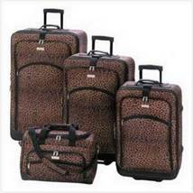 13349 Leopard Print Luggage Set - $249.95