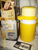 VINTAGE THERMOS JET JUG PUMP TOP PICNIC JUG WATER COOLER/THERMOS BOX AND... - $24.15