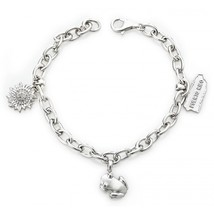 Coqui el Original® Sterling Silver .925 charm Bracelet with three charms - $203.00