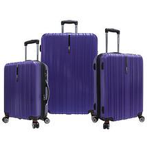 Traveler's Choice 3-Piece Tasmania Purple Pure Polycarbonate Luggage Spi... - $244.99