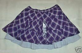Infant Girls Baby Gap Skort Skirt Purple and White Plaid Size 0-3  NWT - $16.99