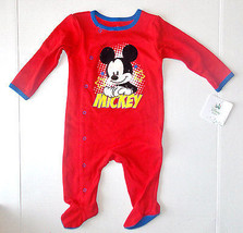 Disney Baby Mickey Mouse Infant Boys Sleeper Size 3-6 Months NWT - $15.19