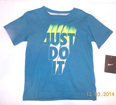 NIKE Toddler Boys Blue Top Sizes 12M, 24M and 4T NWT (JUST DO IT ) - $11.19