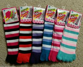 6 Pairs color of Ankle Length Toe Socks - $14.99