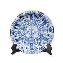 """Beautiful Blue and White Chinoiserir Floral Plate 18"""" Dia - $188.09"""
