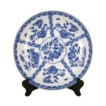 "Beautiful Blue and White Bird and Floral Plate 18"" Dia - $188.09"