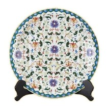 """Beautiful Multicolor Porcelain Chinese Floral Pattern Plate 16"""" Diameter - $168.29"""
