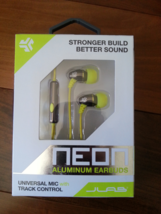 JLab Neon Aluminum Earbuds Lime/Graphite New in Box - $15.00