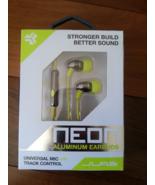 JLab Neon Aluminum Earbuds Lime/Graphite New in... - $15.00