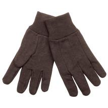 Jersey Gloves, Cotton, Size L, Brown, PR - $13.25