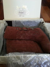 Coach Meyer Signature C Suede Shearling Boot (Size 5.5) Very Good Used C... - $55.00