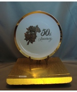 Chatillion Fine Porcelain 50th Anniversary Gift Plate - $4.99