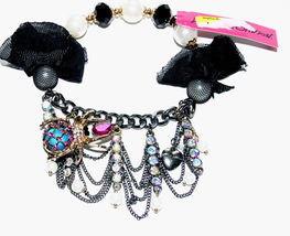 Betsey Johnson CREEPSHOW SPIDER HALF STRETCH BRACELET NWT New - $32.99