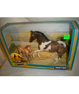 Breyer Wild Mustangs #750601 Grullo Pinto Mare & Red Dun Foal  NRFB 2003 - $39.99