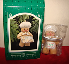 "1988 Hallmark Handcrafted Ornament ""Son"" Mint in Box - $7.50"