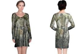 HULK vs solid snake image Long Sleeve Night Dress - $23.99+