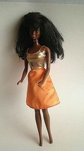 Vintage Barbie Doll Mattel 1966 Black Hair African American Orange Gold ... - $21.53