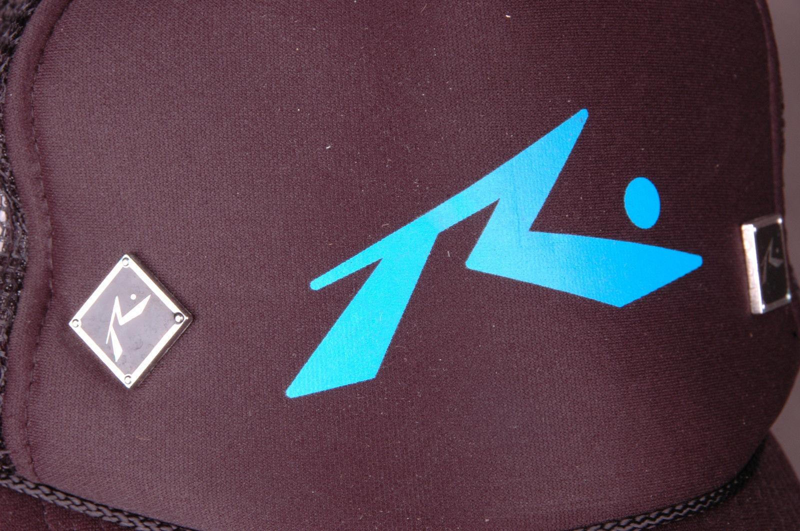 4a5ba1a7c3f2b RUSTY Trucker Hat-Black-Mesh-Snap Back-Terricloth Headband-Metal Emblems