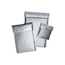 """Cool Shield Bubble Mailers, 11""""x15"""", Silver, 50/Case"" - $80.99"