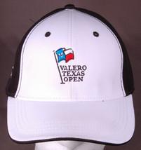 Valero Texas Open Hat-TPG Golf-Black/White-Velcro Back-AHEAD-San Antonio - $24.30