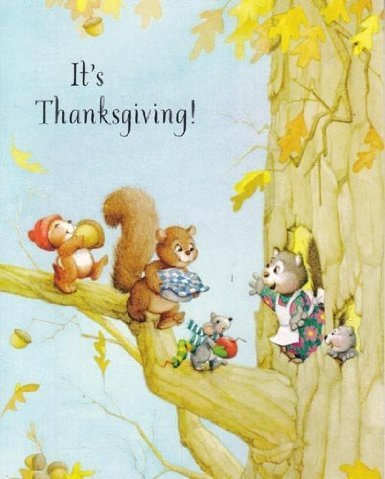 "Greeting Thanksgiving Card ""It's Thanksgiving!"" Here's to Cooking and Preparing"