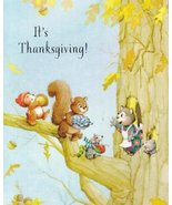 "Greeting Thanksgiving Card ""It's Thanksgiving!"" Here's to Cooking and Pr... - $1.50"
