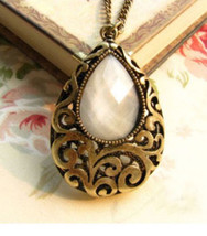 HOLLOW DROP LONG CHAIN NECKLACE  - $2.49