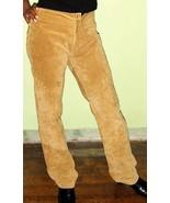 Woman's 70's Vintage Suede Leather Pants Hippie... - $30.00
