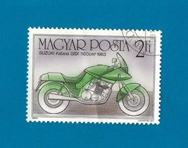 Hungary (used postage stamp) Motorcycle 1985 - $1.99
