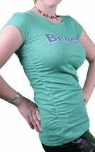 Bench Urbanwear Mujer Verde Heather Deckhand Logo Camiseta BLGA2358 Nwt image 3