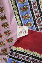 "Rare Mid Century VTG NWT Echo Originations Oblong Silk Scarf Floral 61"" ... - $40.00"