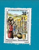 Rwanda (mint no gum postage stamp) Village Life 1981 - $0.25